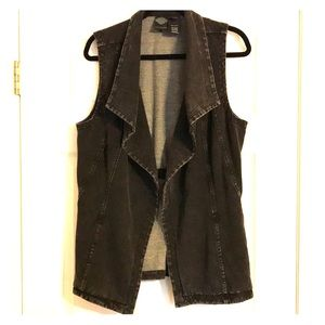 Harley Davidson HD Vest Black Distressed Womens XL
